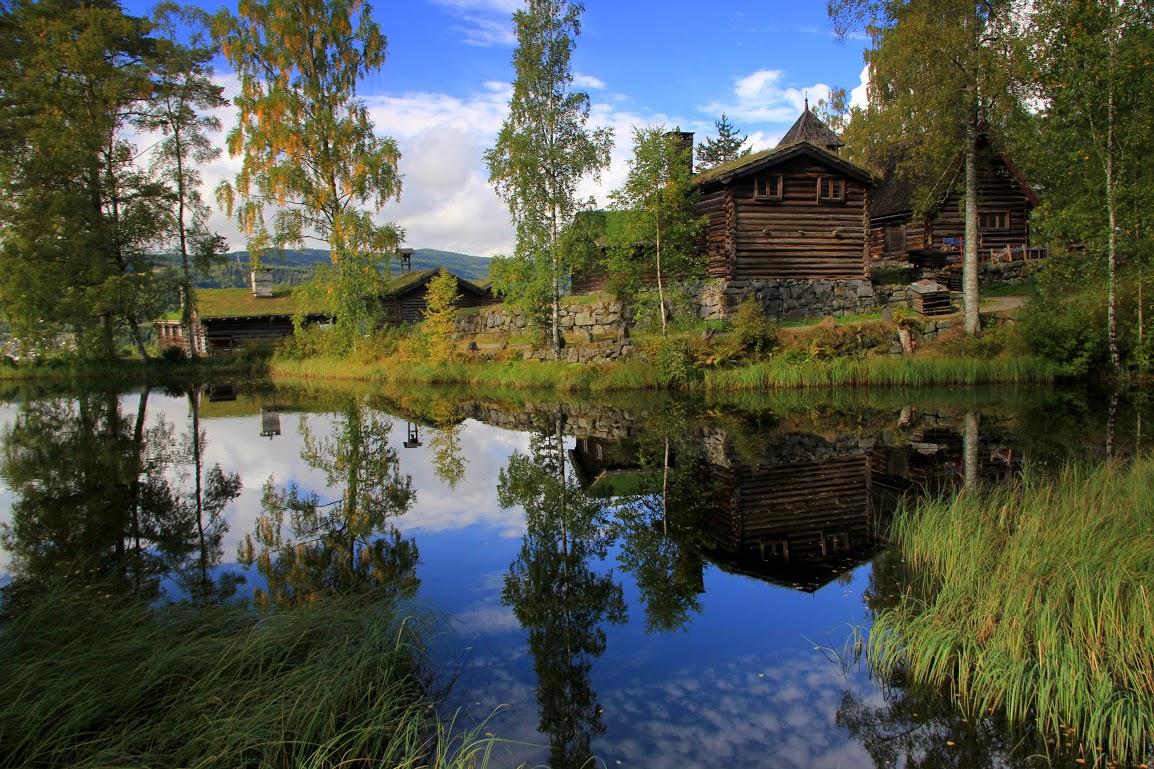 Skanzen Maihaugen v Lillehammeru