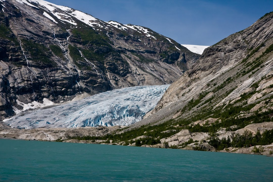 Ledovcový splaz Nigardsbreen