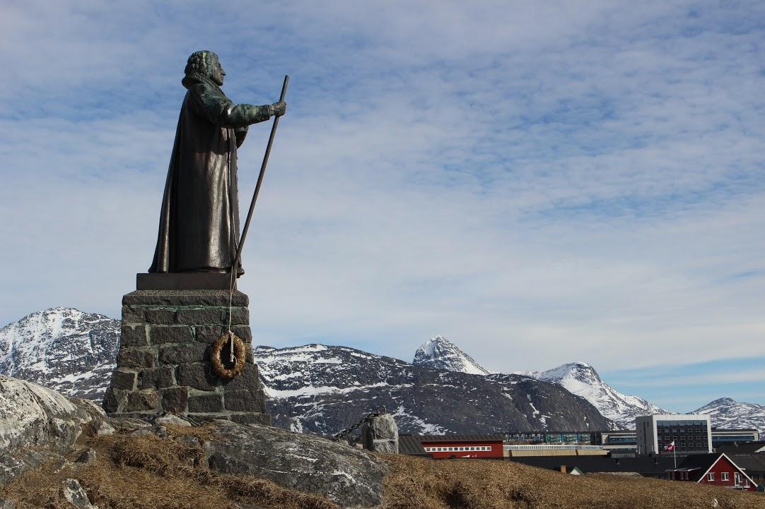 Socha Hanse Egedeho, zakladatele města Nuuk