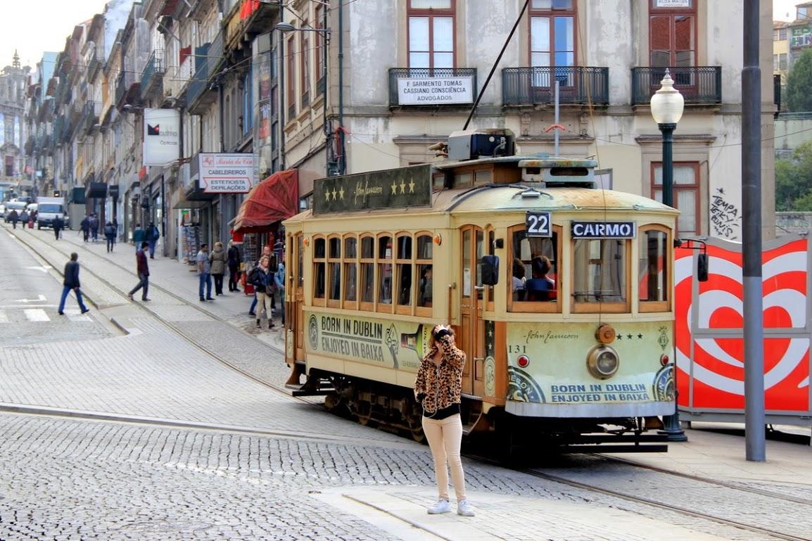 Historická tramvaj v Portu