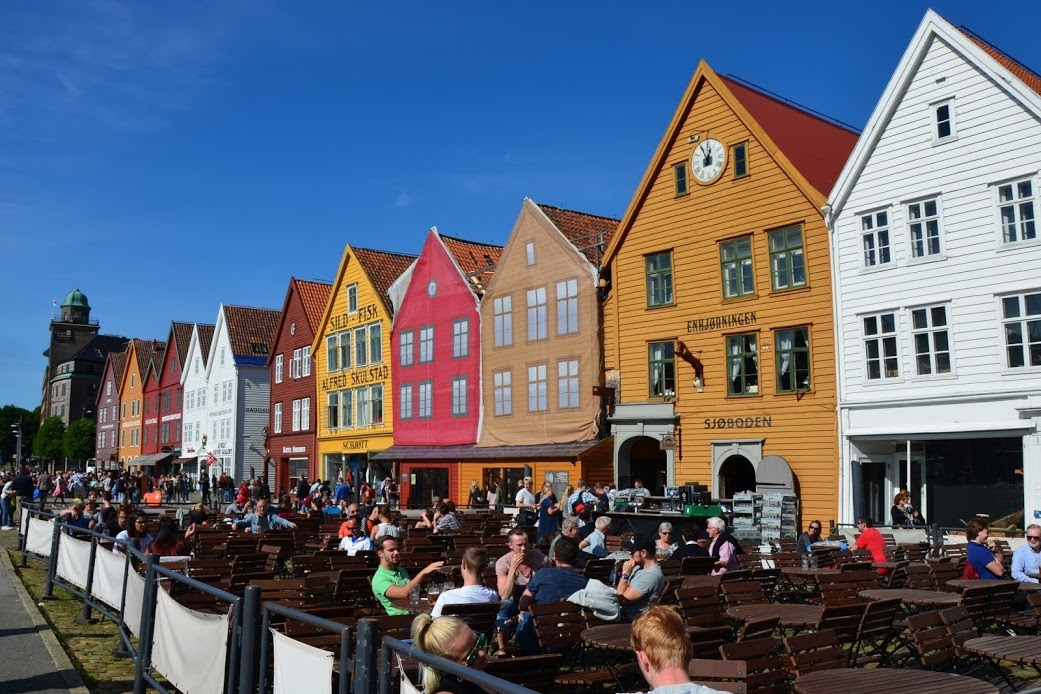 Bryggen je nejstarší čtvrť Bergenu