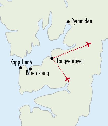 Mapy zájezdů / 02AD16 - Špicberky