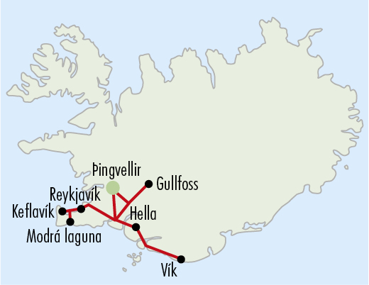 Mapy zájezdů / 12 IS Sedm divů Islandu, 4 noci