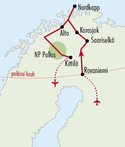 Mapy zájezdů / 17NO_Finsko aNorsko – Laponskem naNordkapp