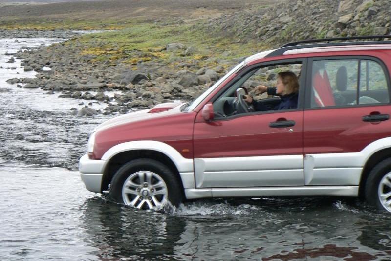 Terénním autem ve vnitrozemí