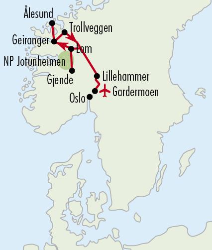 Mapy zájezdů / 50NO_zájezd Norsko je včervnu nejkrásnější