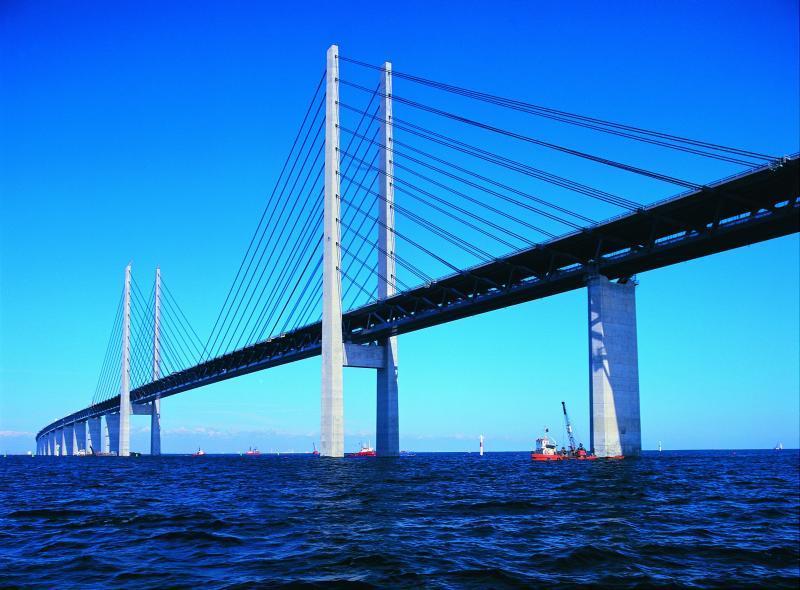 Oresundbron -  most spojující Dánsko a Švédsko