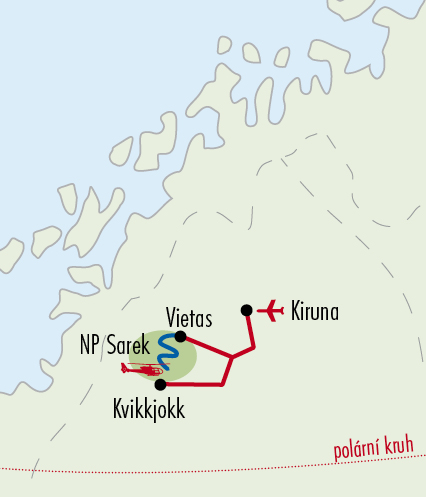 Mapy zájezdů / 81NO - NP Sarek, 2016