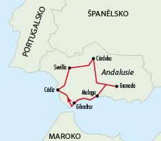 Mapy zájezdů / Andalusie