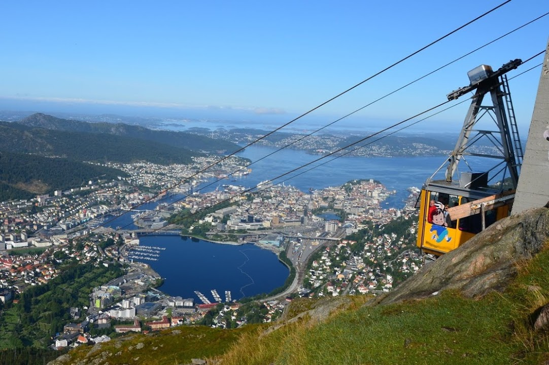 Bergen- lanovka na horu Ulriken