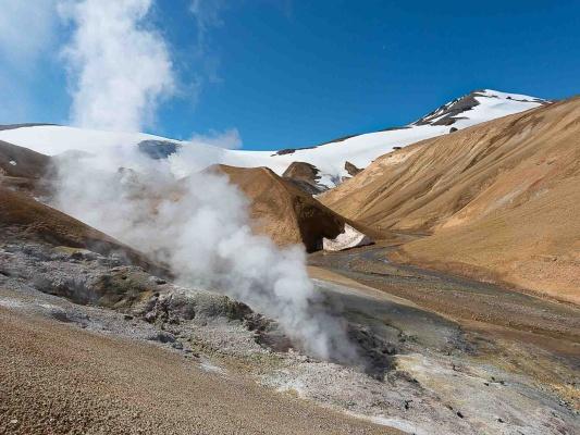 Čarovná příroda v horách Kerlingarfjöll na Islandu