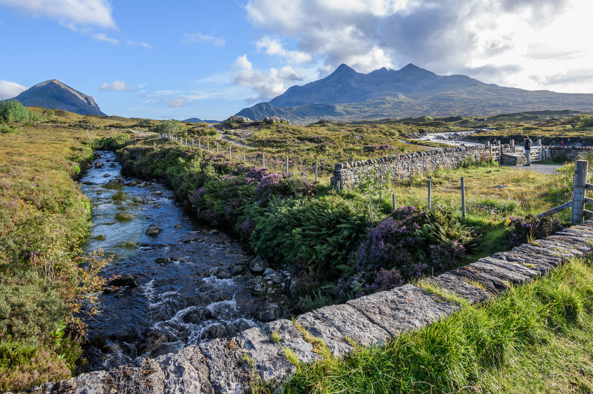 Cuillin Hills na ostrově Skye