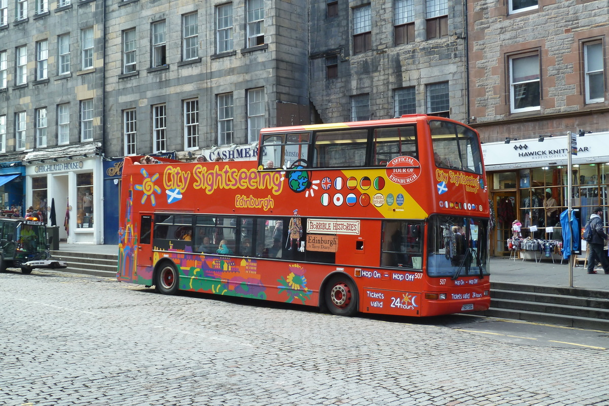 Double decker v Edinburghu