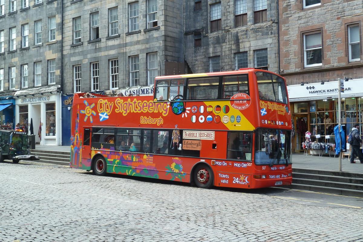 Double decker v Edinburghu