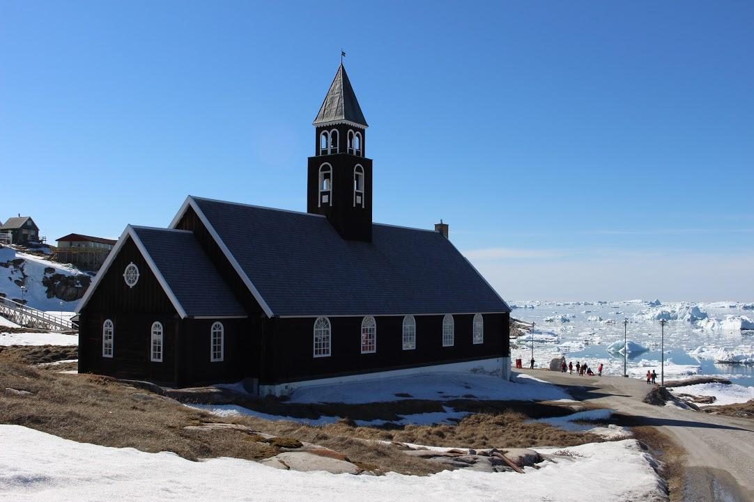 Dřevěný kostel v Ilulissat