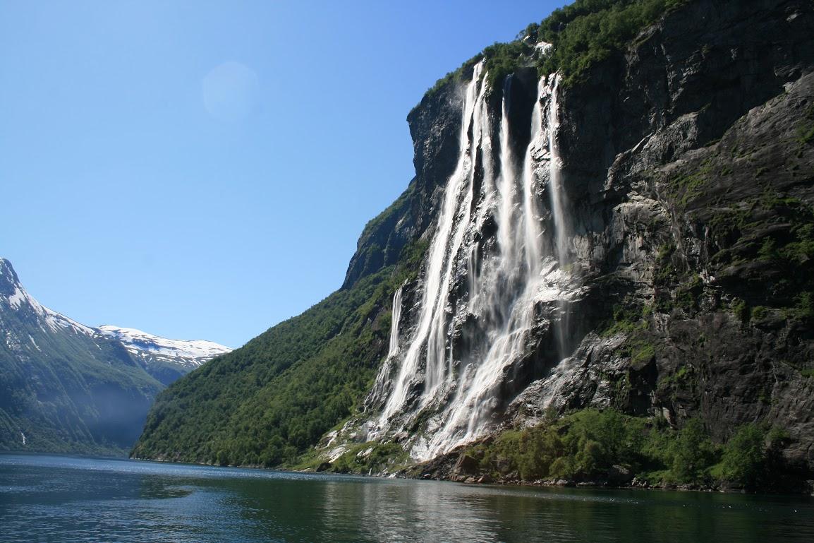 Geirangerfjord- Vodopád Sedm sester
