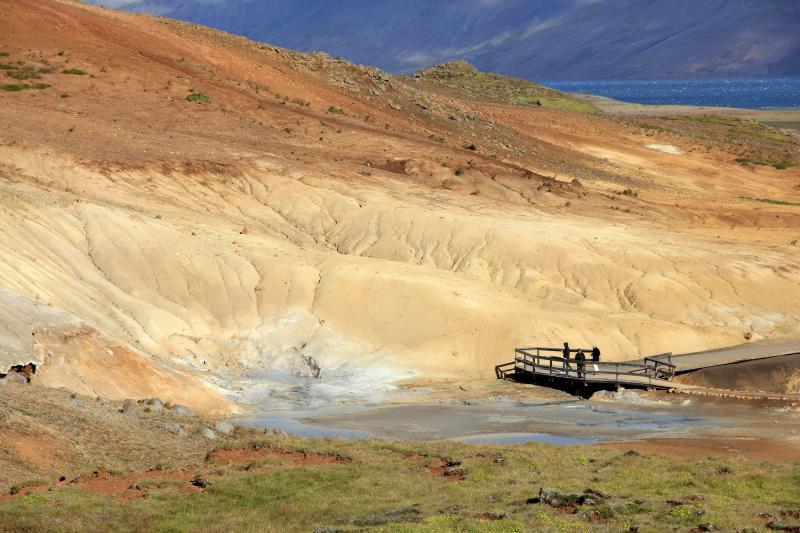 Geotermální oblast Seltún na poloostrově Reykjanes