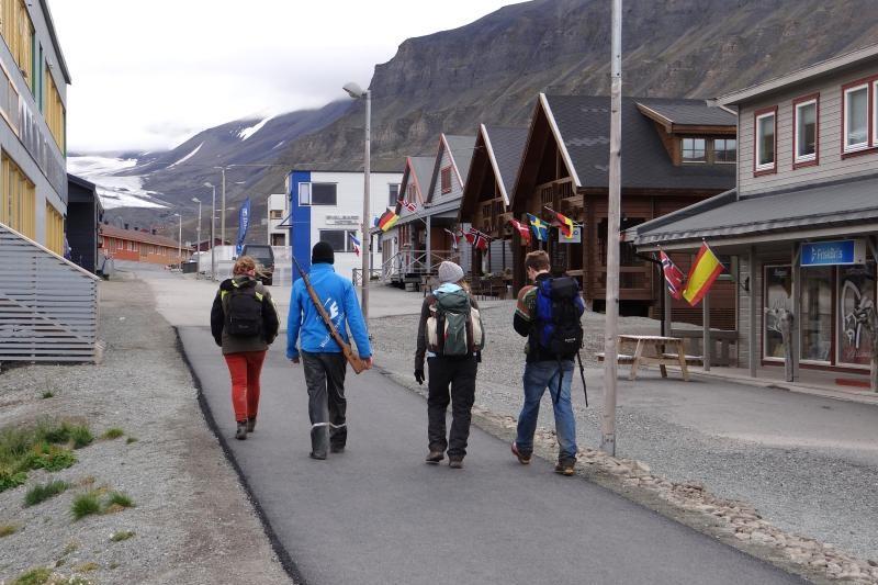 Hlavní ulice v Longyearbyen