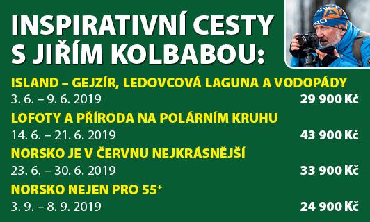 Inspirativní cesty s Jiřím Kolbabou a CK Periscope Skandinávie 2019