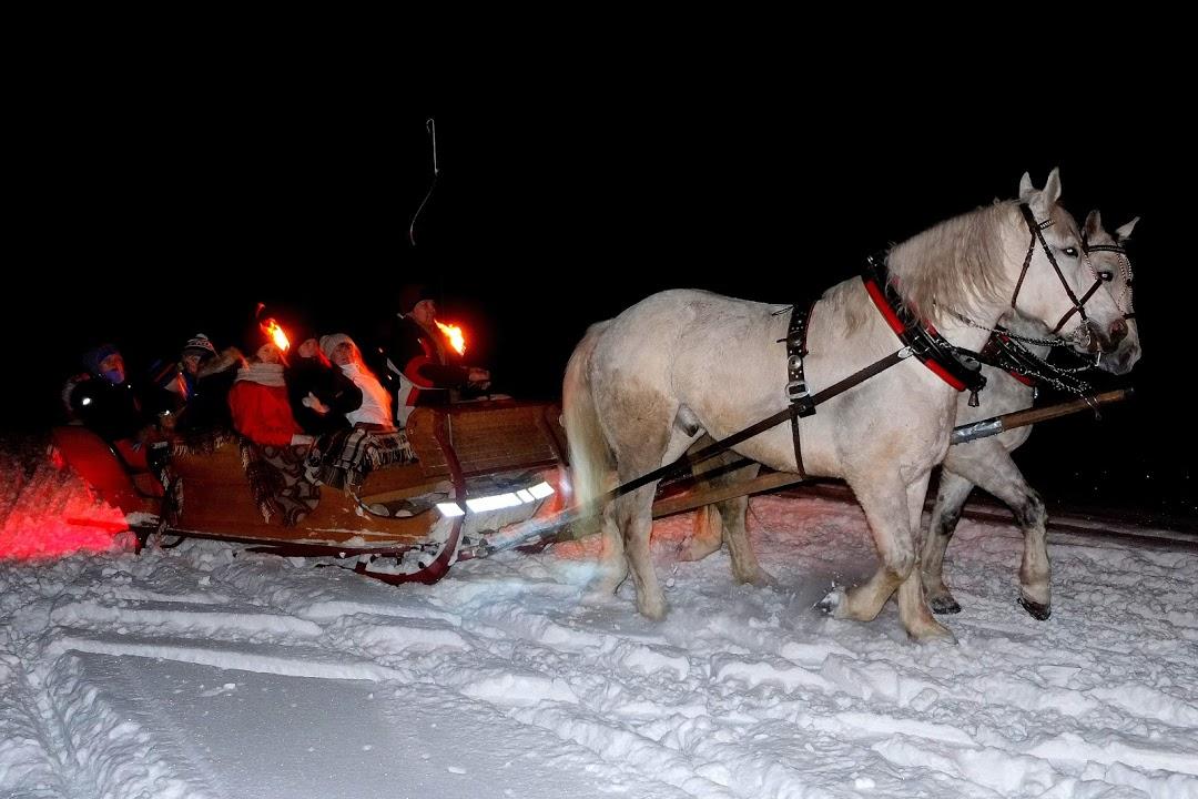 Silvestrovský jízda koňským spřežením