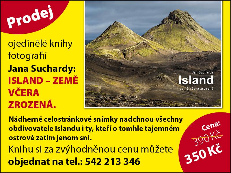 Redakce - Infoscope - zkatalogu / Kniha Jan Sucharda - Island, země včera zrozená