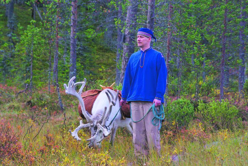 Letní Laponsko / Letni Laponsko - pastevec se sobem