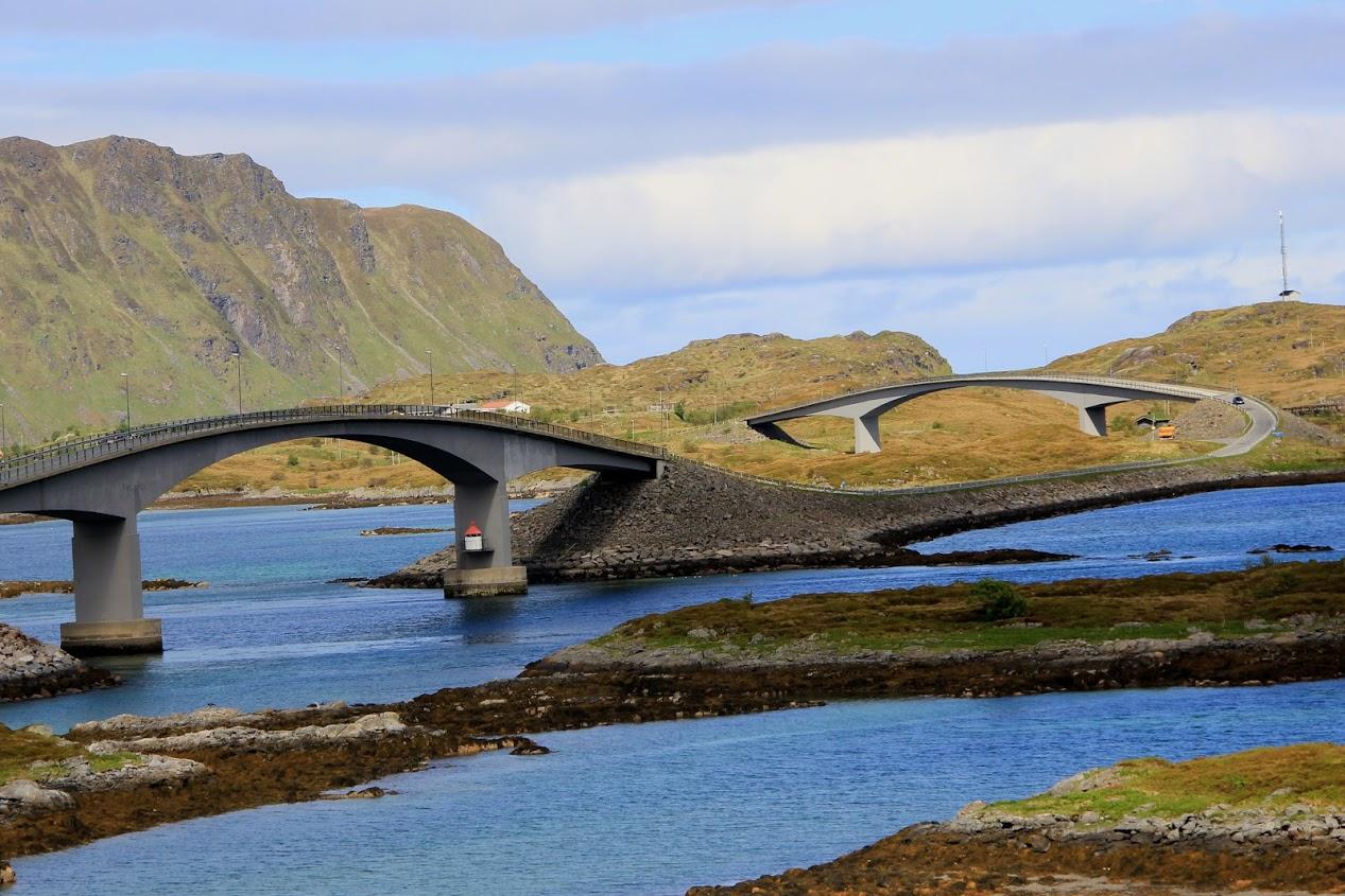 Mosty u Fredvangu na Lofotech
