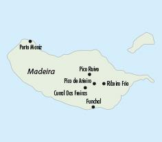 Mapy zájezdů / Madeira