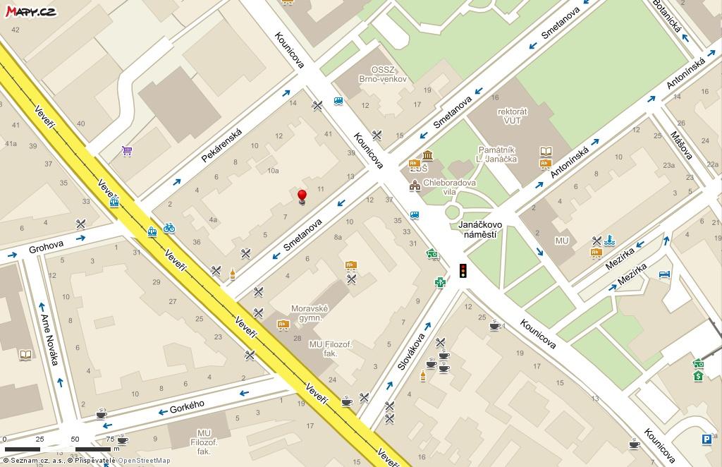 Redakce - Infoscope - z katalogu / mapa Periscope Skandinávie, Smetanova 9, Brno