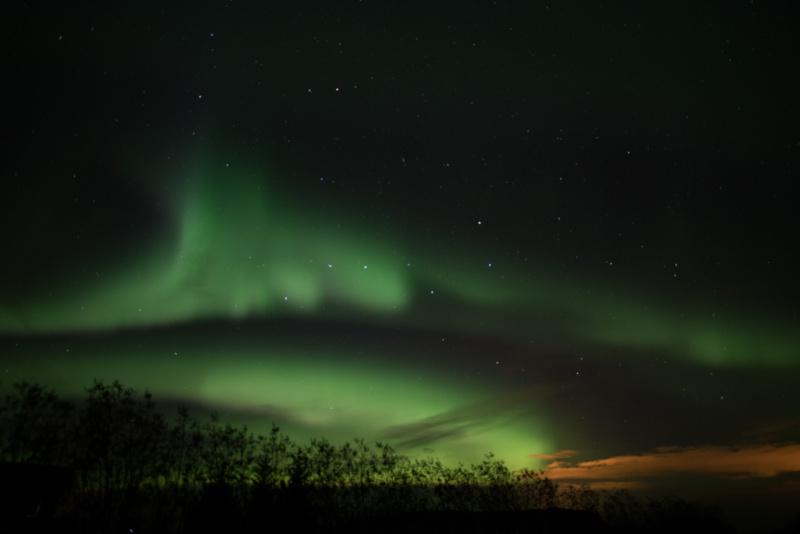 Možnost spatřit polární záři je od srpna