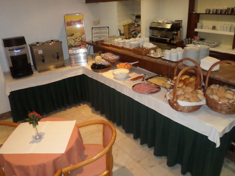 Nabídka snídaně v hotelu do Centro, Funchal