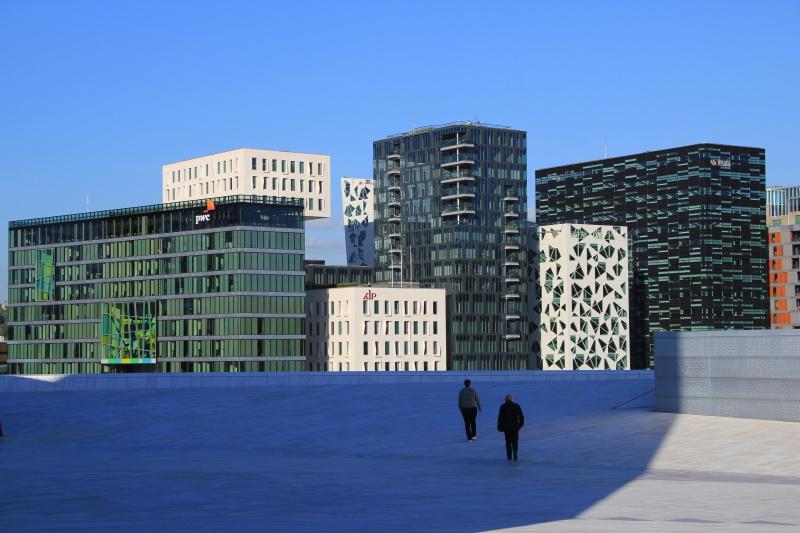 Oslo - moderní výstavba nedaleko nové opery