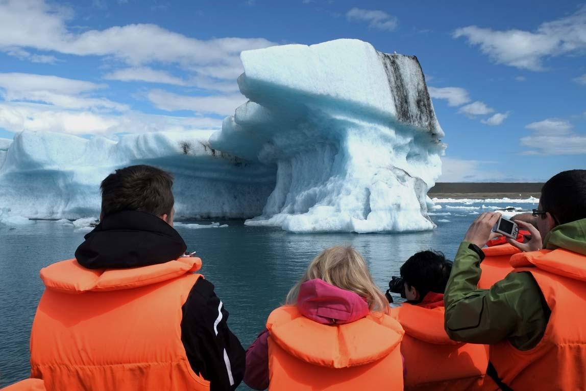 Plavba po ledovcové laguně Jokulsárlón