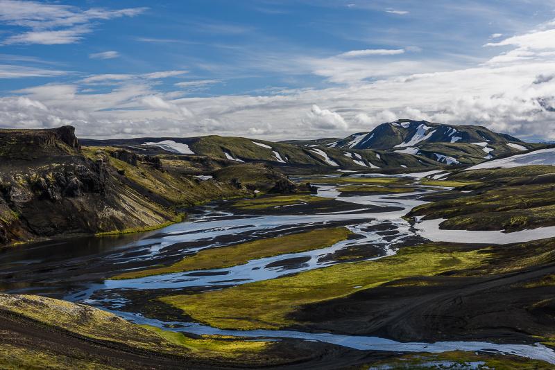 Pohledy na vnitrozemí Islandu