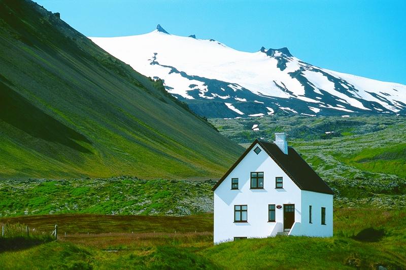 Polární den na Islandu
