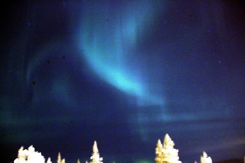 Polární záře na finském nebi