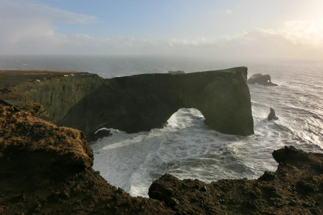 Poloostrov Dyrhólaey na jihu Islandu