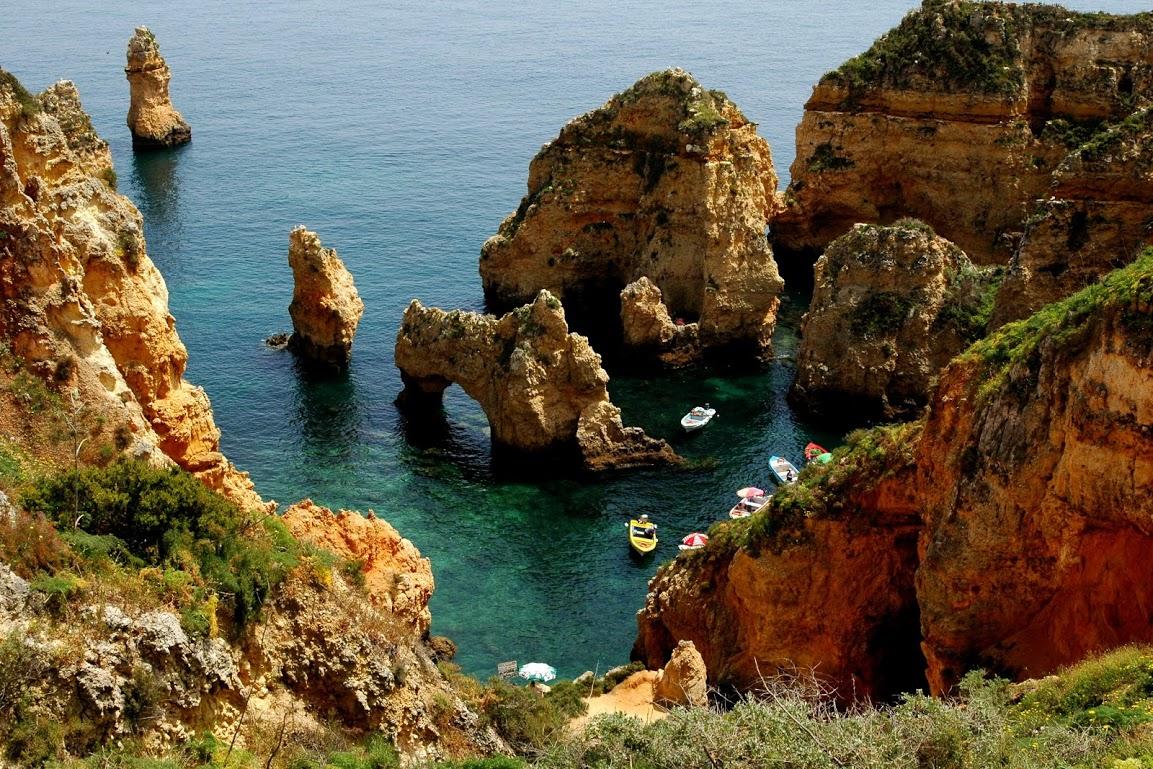 Algarve, zátoka Ponta da Piedade