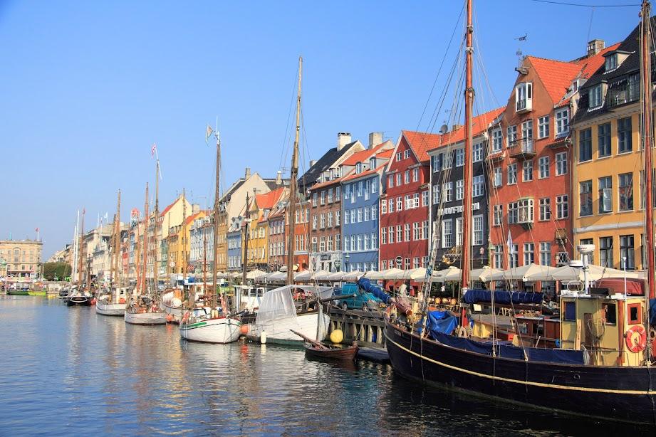 Přístav Nyhavn v centru Kodaně