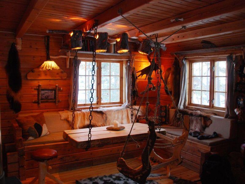 Romantická srubová atmosféra v Engholm Husky