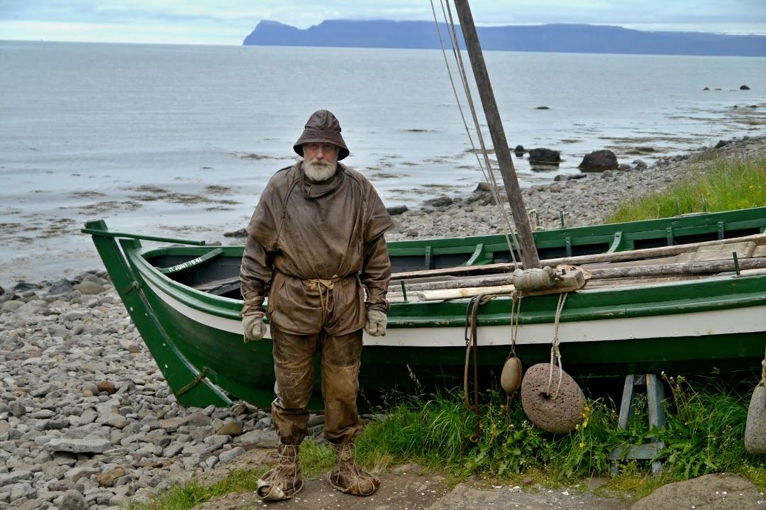 Rybář v západních fjordech