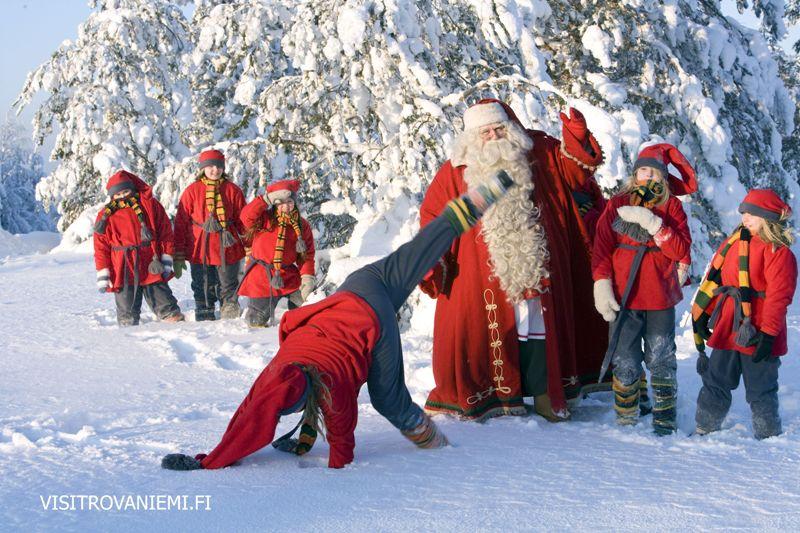 Santa Klaus bydlí v Rovaniemi