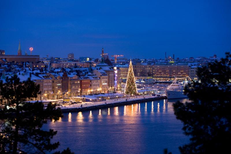 Skeppsholmen v zim�
