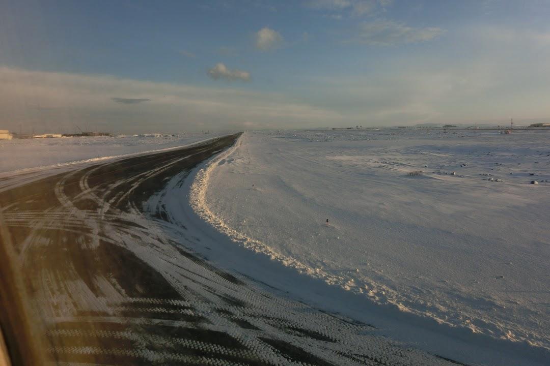 Sněhová pláž na Islandu