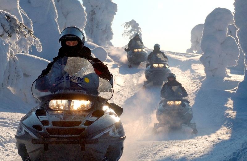 Sněžné skútry Finsko