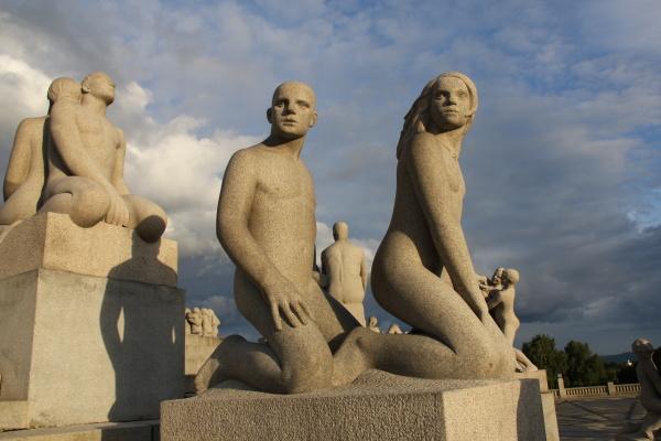 Oslo- Souší Gustava Vigelanda ve Frogner Parku