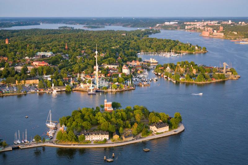 Stockholm a přilehlé ostrovy