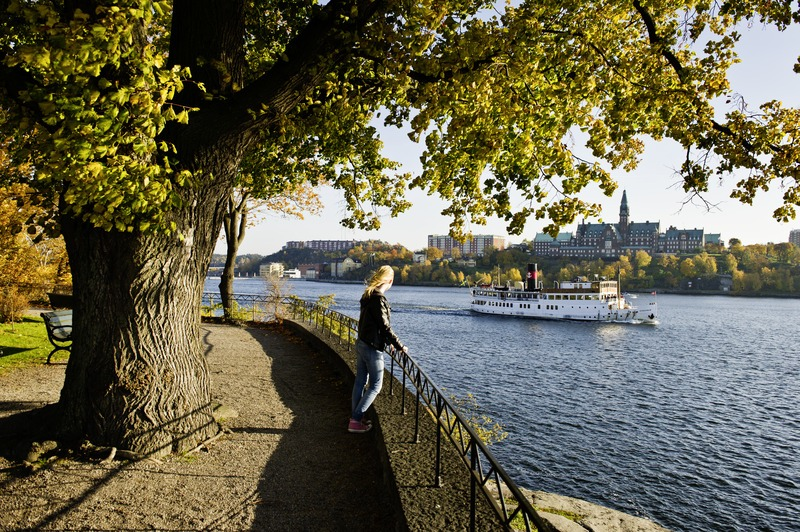 Stockholm - pohled z ostrova Djurgarden