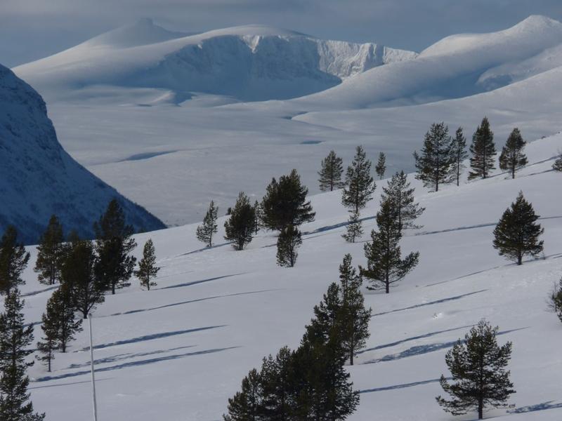 Strmé hory se zdvihají do několikaset metrových výšek