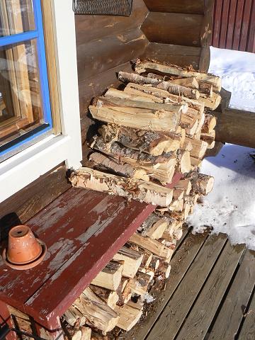 Švédské Laponsko za polárním kruhem v březnu